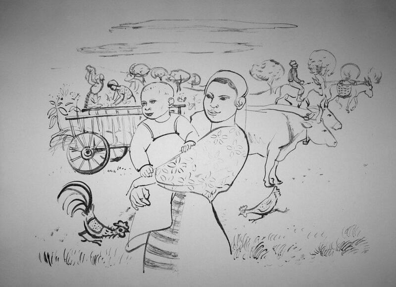 """Abbildung 1: """"Bulgarische Bäuerin mit Kind"""" von Fritz Duda"""