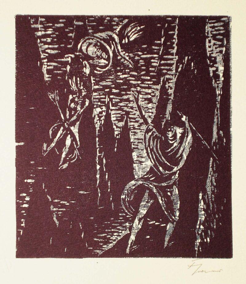 """Abbildung von """"Hexe in einer Felsenspalte"""""""