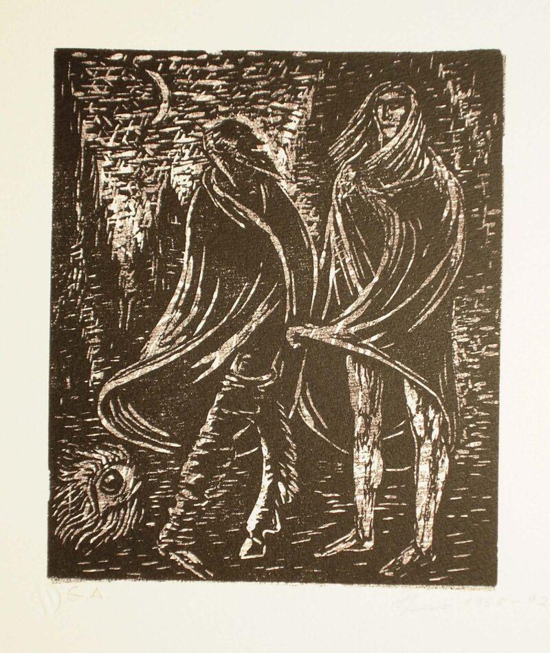 """Abbildung von """"Faust und Mephisto mit dem Irrlicht"""""""