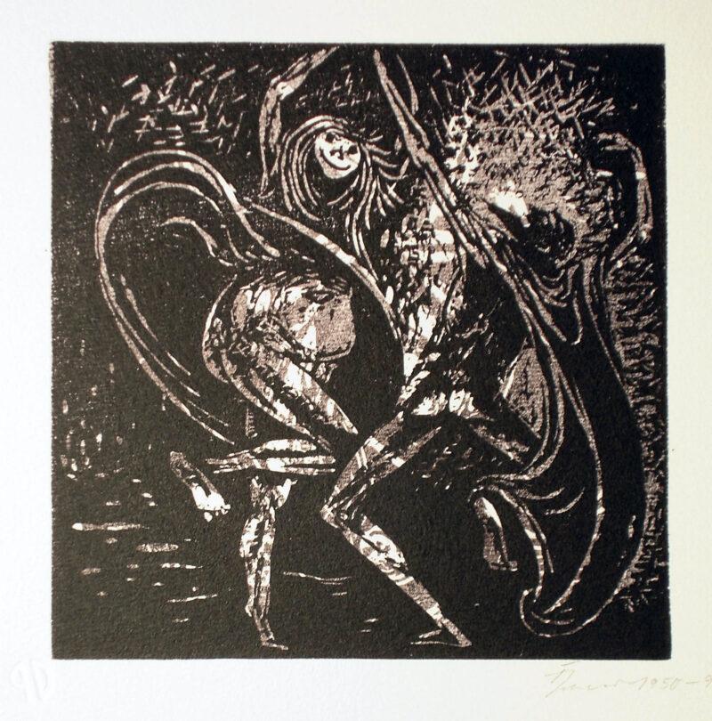 """Abbildung von """"Mephisto und die Alte tanzend I"""""""