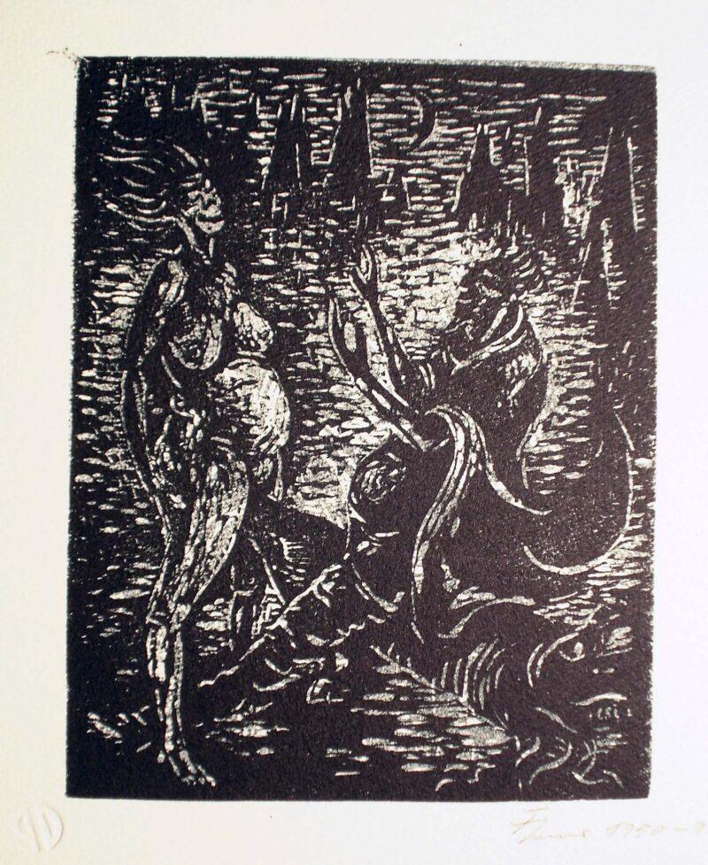 """Abbildung 1: """"Mephisto und die Alte II"""" von Fritz Cremer"""