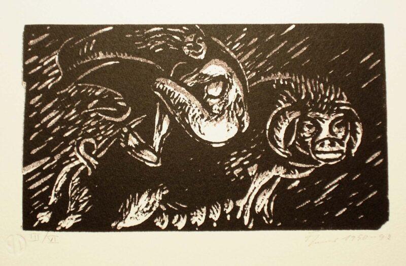 """Abbildung von """"Hexe auf einem Schwein II"""""""
