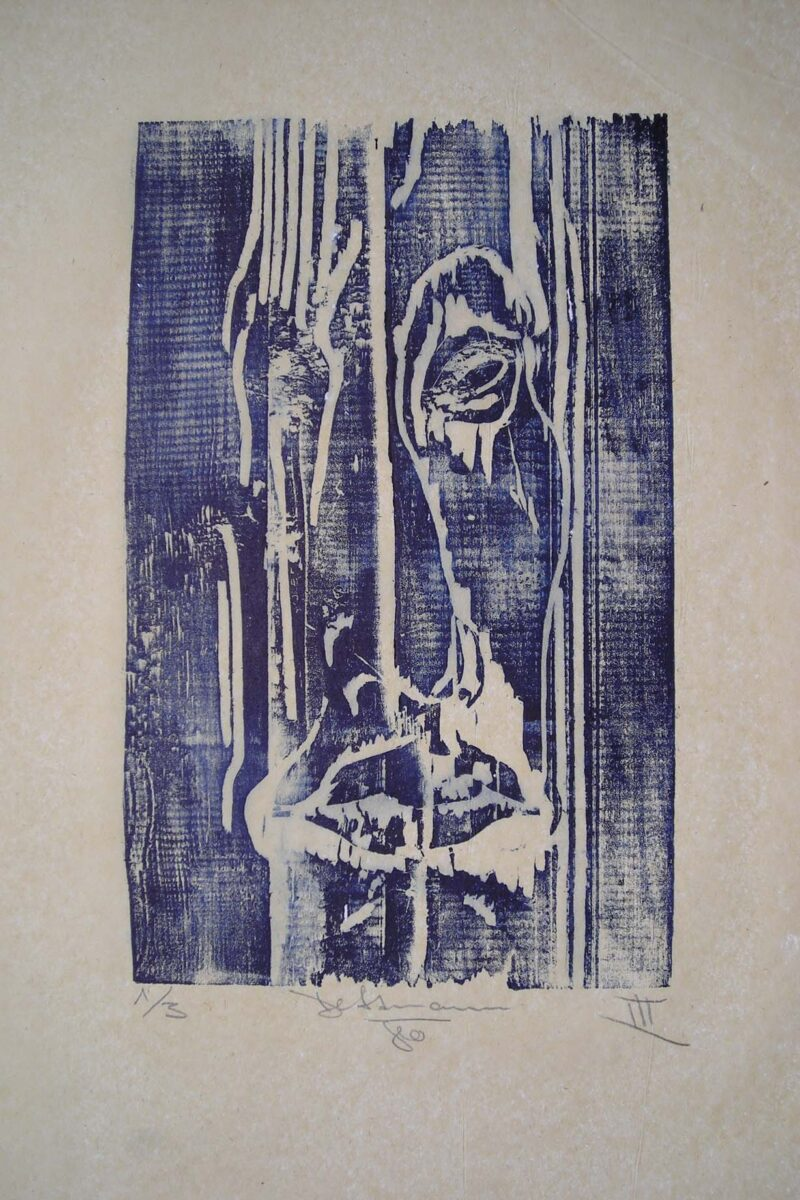 """Abbildung von """"Gesicht im Holz"""""""