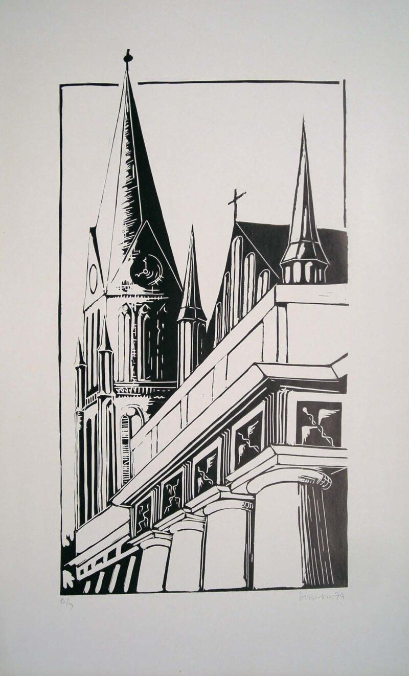 """Abbildung von """"Der Schweriner Dom"""""""