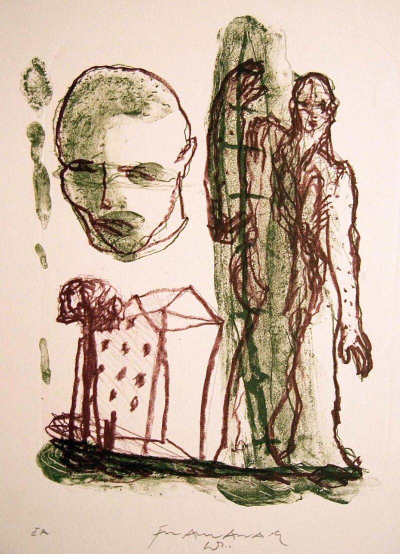 """Abbildung 1: """"Mensch + Haus (Var.)"""" von Franz-Anatol Wyss"""