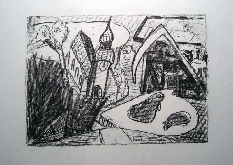 """Abbildung von """"(Sense, Kirche und schwarze Schafe)"""""""