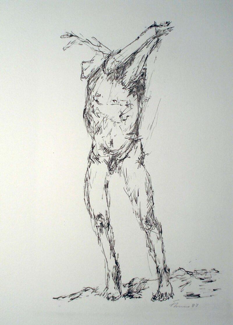 """Abbildung 1: """"Verzweifelter, Studie zum Homo Sapiens im Jahr 2000"""" von Fritz Cremer"""