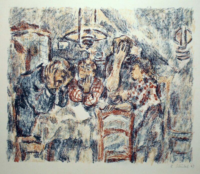 """Abbildung 1: """"Familie am Tisch"""" von Rolf Schubert"""