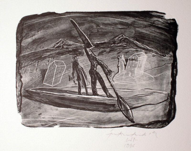 """Abbildung 1: """"Abreise"""" von Franz-Anatol Wyss"""