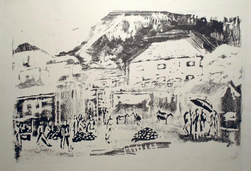 """Abbildung 1: """"Fruchtmarkt in Dubrovnik"""" von Rudi Lesser"""