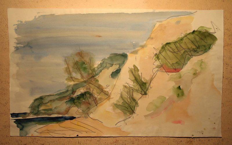 Pankpress Tusche Zeichnung Hiddensee III Peter Dettmann 1983