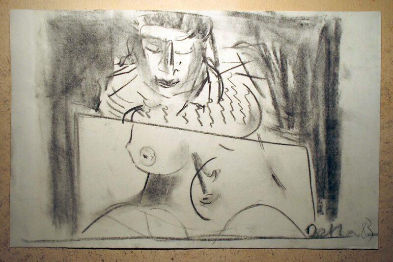 """Abbildung 1: """"Modell im Atelier"""" von Peter Dettmann"""