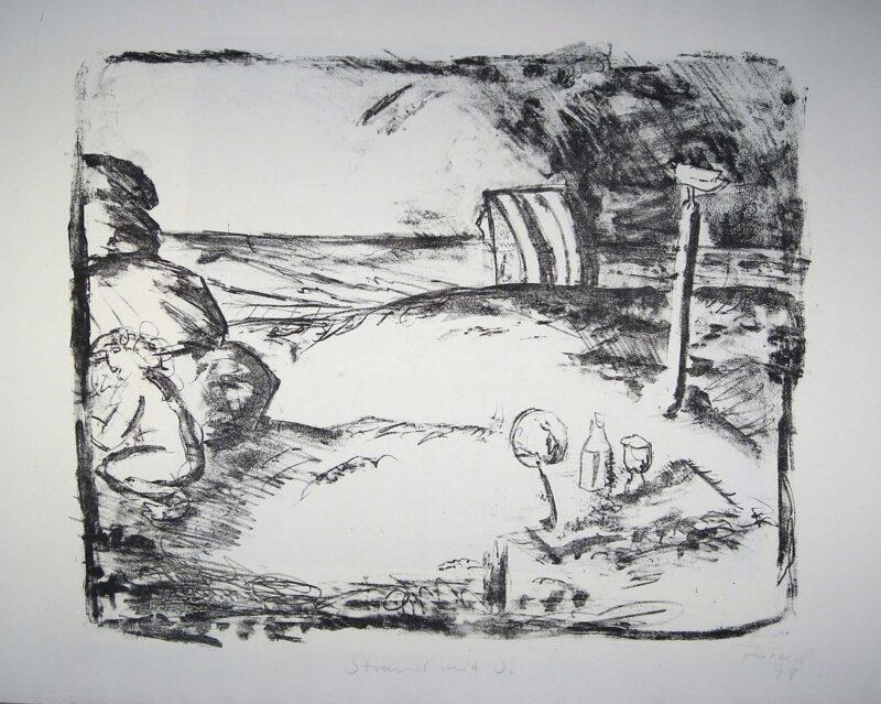 """Abbildung 1: """"Strand mit I."""" von Lutz Friedel"""