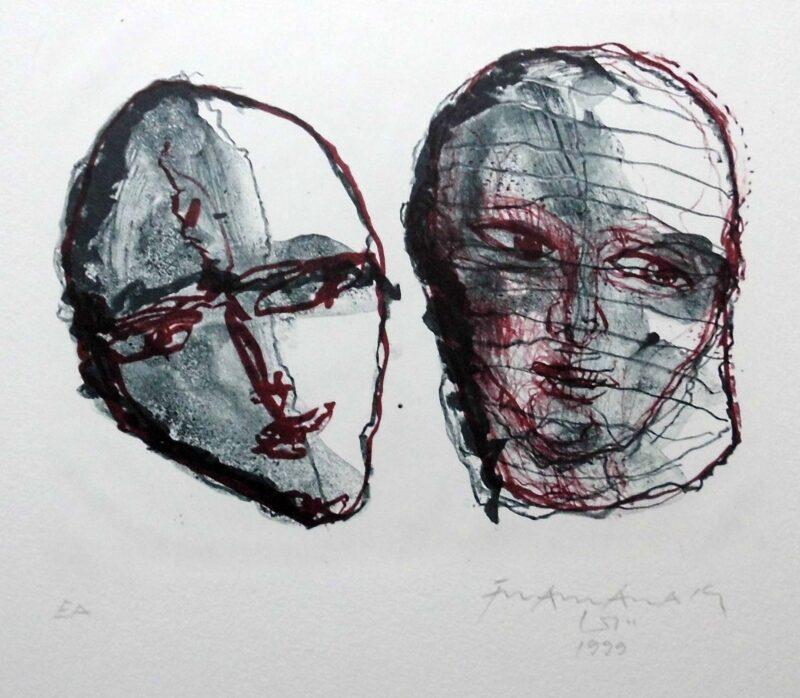 """Abbildung 1: """"Zwei Köpfe"""" von Franz-Anatol Wyss"""