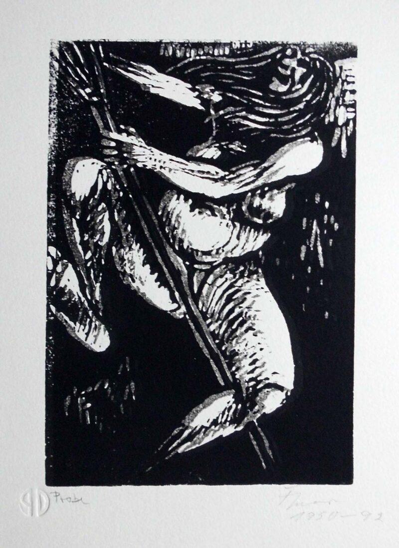 """Abbildung von """"Hexe auf dem Besen"""""""