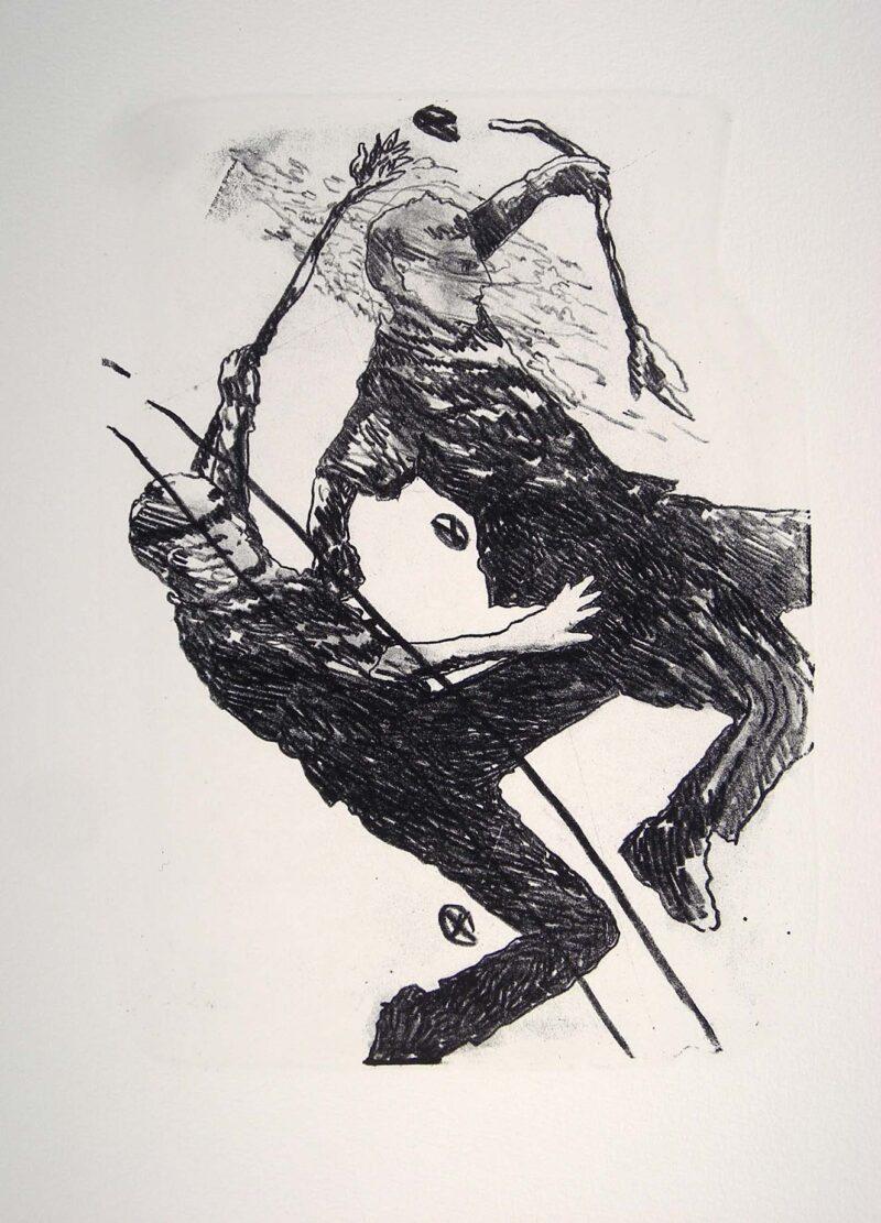 """Abbildung 1: """"Der Mensch bewegt sich (6)"""" von Franz-Anatol Wyss"""
