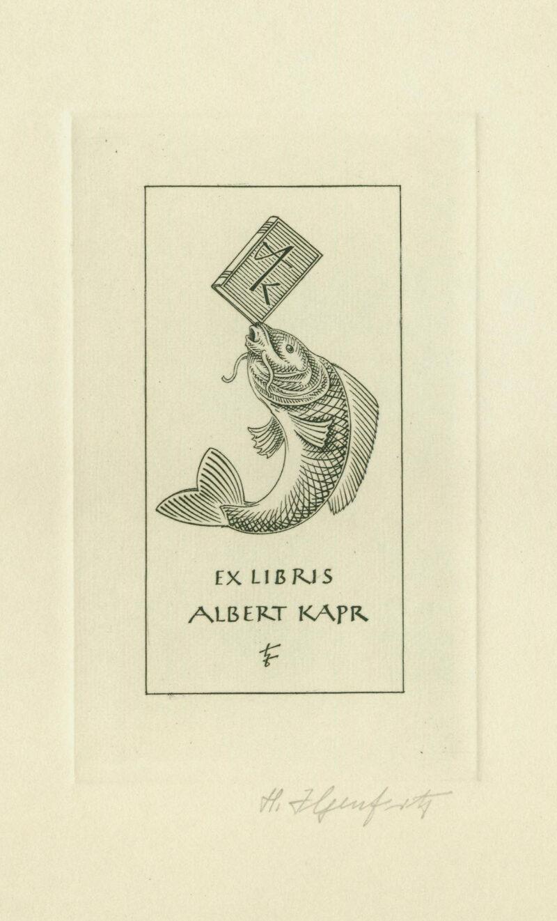 """Abbildung von """"Exlibris Kapr"""""""