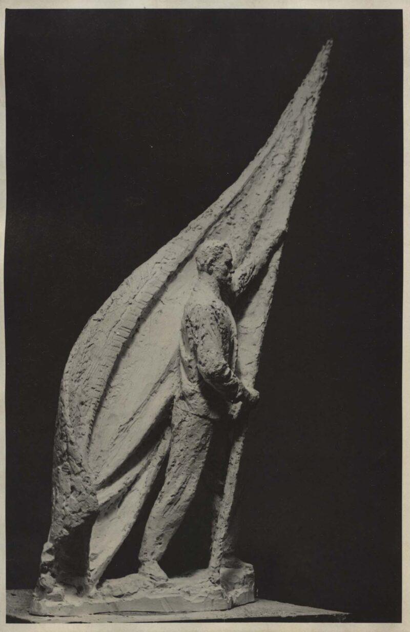 """Abbildung 1: """"Fotografie von Fritz Cremers Plastik """"Entwurf zum Buchenwald-Denkmal"""" (Detail)"""" von Fritz Cremer"""