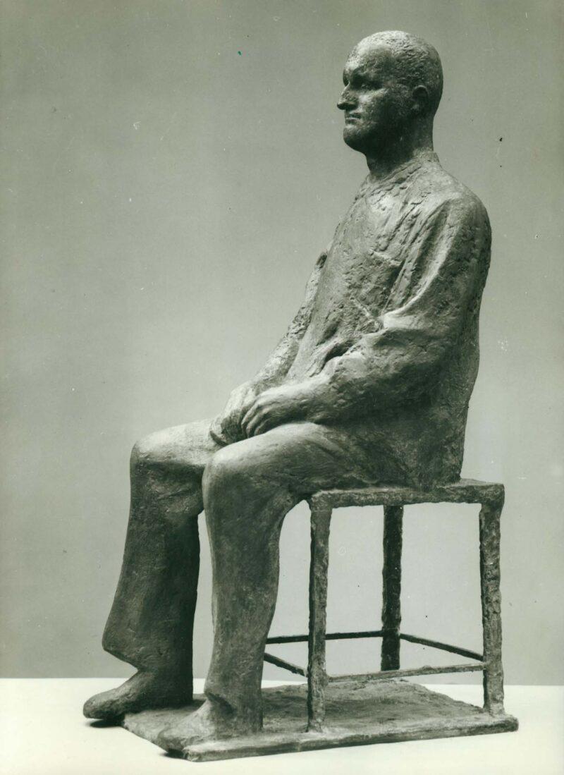 """Abbildung 1: """"Fotografie von Fritz Cremers Plastik """"Entwurf zum Denkmal Bertolt Brecht II"""""""" von Fritz Cremer"""