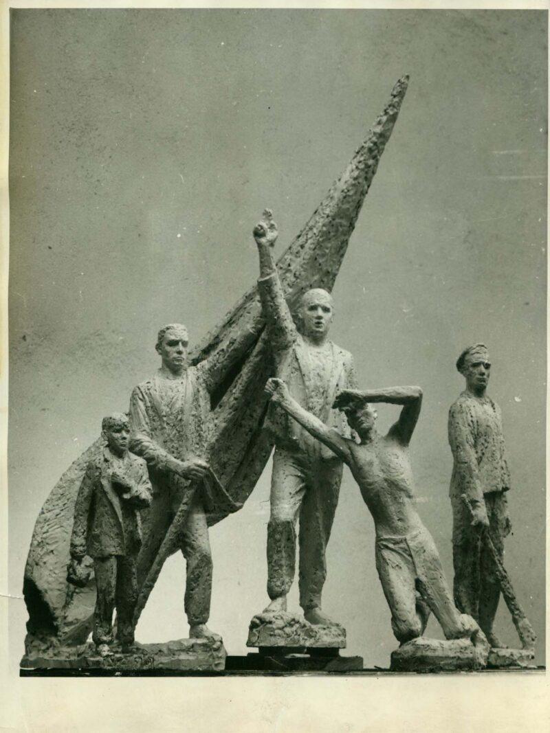 """Abbildung von """"Fotografie von Fritz Cremers Plastik """"Entwurf zum Buchenwald-Denkmal"""""""""""