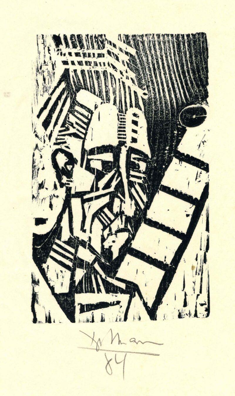 """Abbildung 1: """"Selbst mit Leiter"""" von Peter Dettmann"""