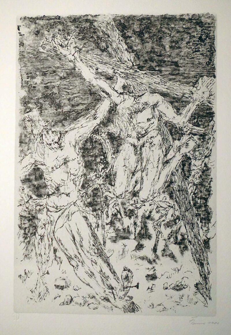 """Abbildung 1: """"Die Straße  von Capua nach Rom II"""" von Fritz Cremer"""