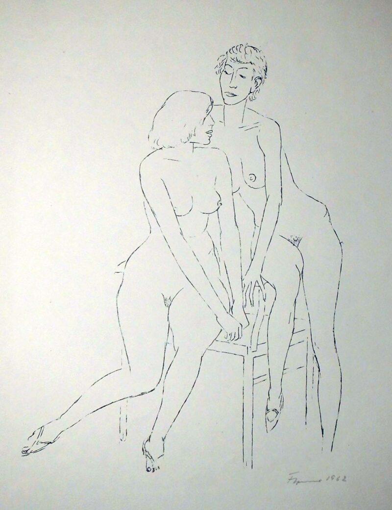 """Abbildung 1: """"Frauen und Mädchen, Blatt 11"""" von Fritz Cremer"""