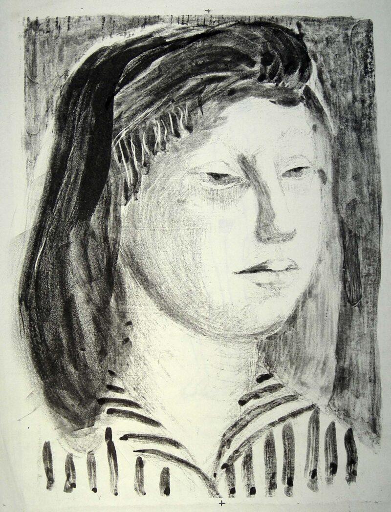 """Abbildung 1: """"(Mädchenkopf)"""" von Christa Cremer"""