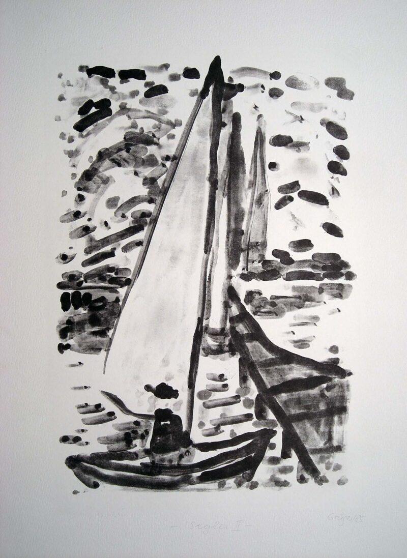 """Abbildung 1: """"Segler  II"""" von Margit Grüger"""