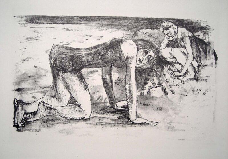 """Abbildung 1: """"Zwei Mädchen am Strand"""" von Horst Zickelbein"""