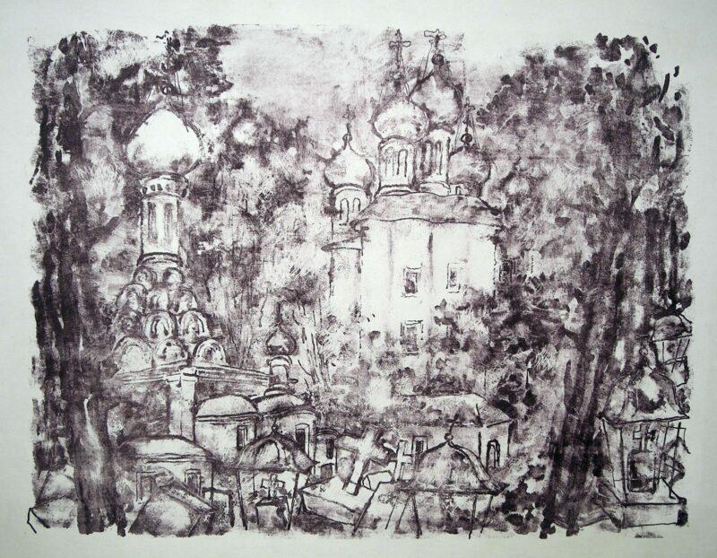 """Abbildung von """"Donskojer Kloster in Moskau I"""""""