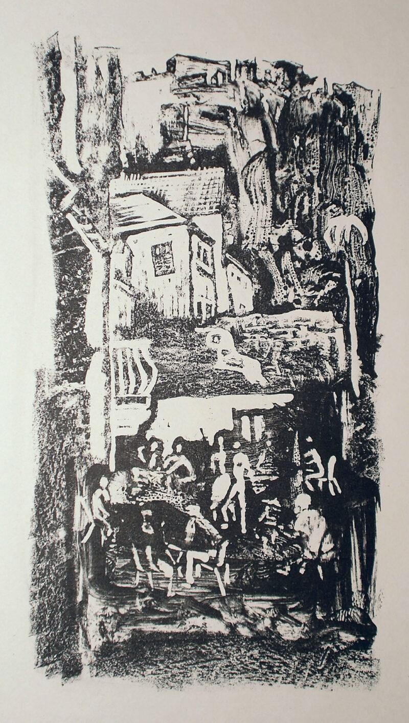"""Abbildung 1: """"(Menschen im Dorf)"""" von Rudi Lesser"""