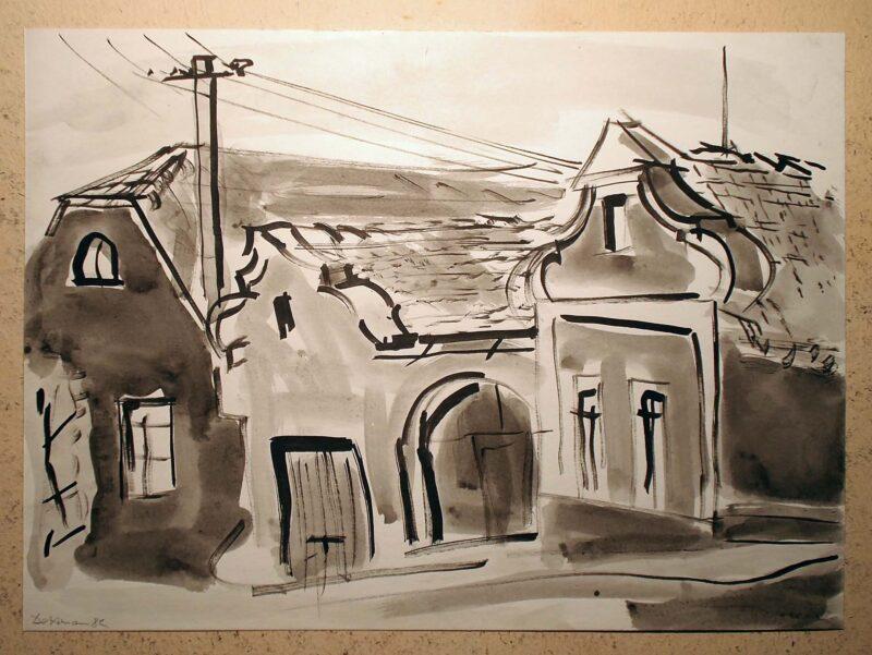 """Abbildung 1: """"In böhmischen Dörfern VIII"""" von Peter Dettmann"""