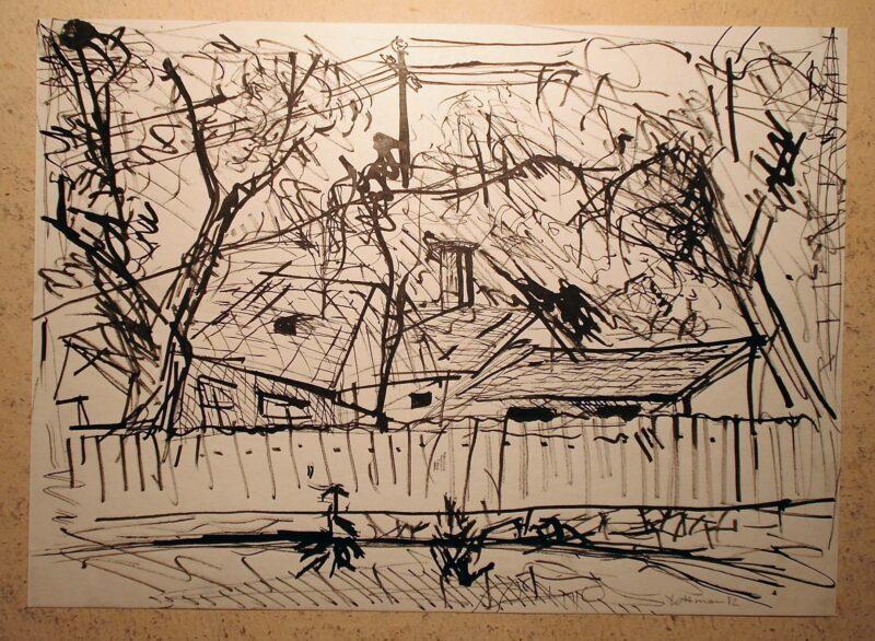 """Abbildung 1: """"In böhmischen Dörfern XI"""" von Peter Dettmann"""