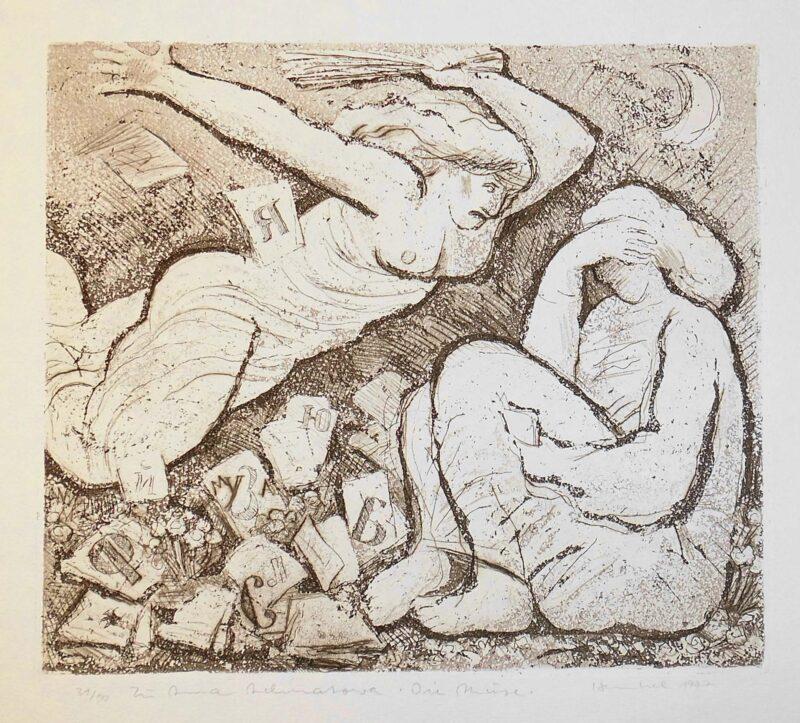 """Abbildung 1: """"zu Anna Achmatowa """"Die Muse"""""""" von Friedrich B. Henkel"""