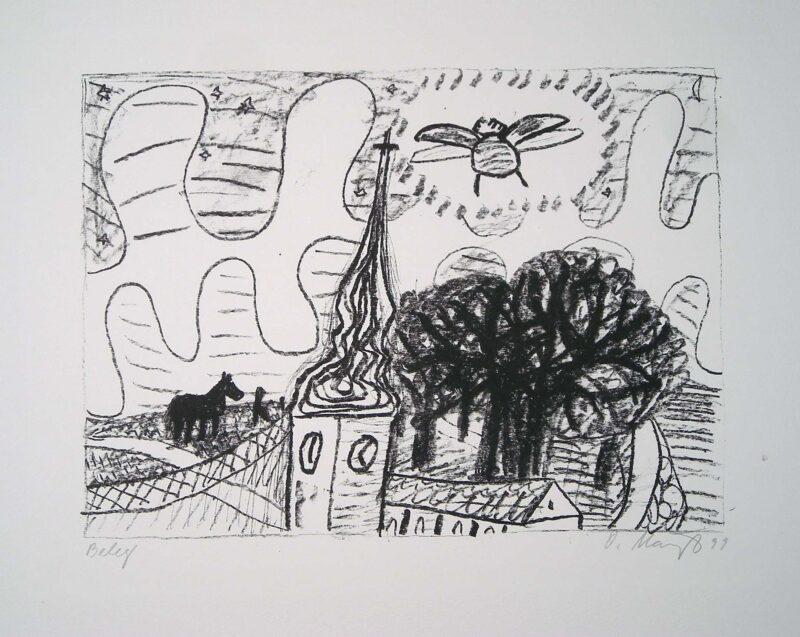 """Abbildung 1: """"Dorfkirche II"""" von Oskar Manigk"""