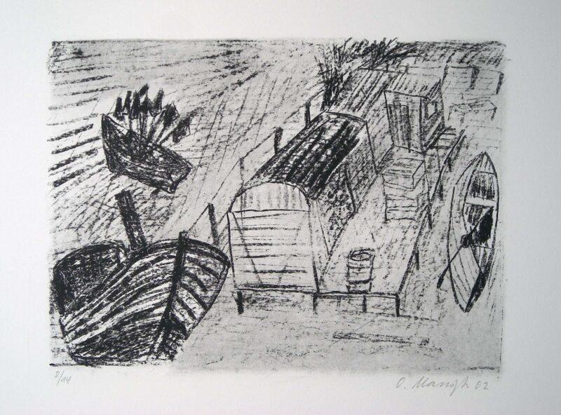 """Abbildung von """"Fischerstrand im Regen"""""""