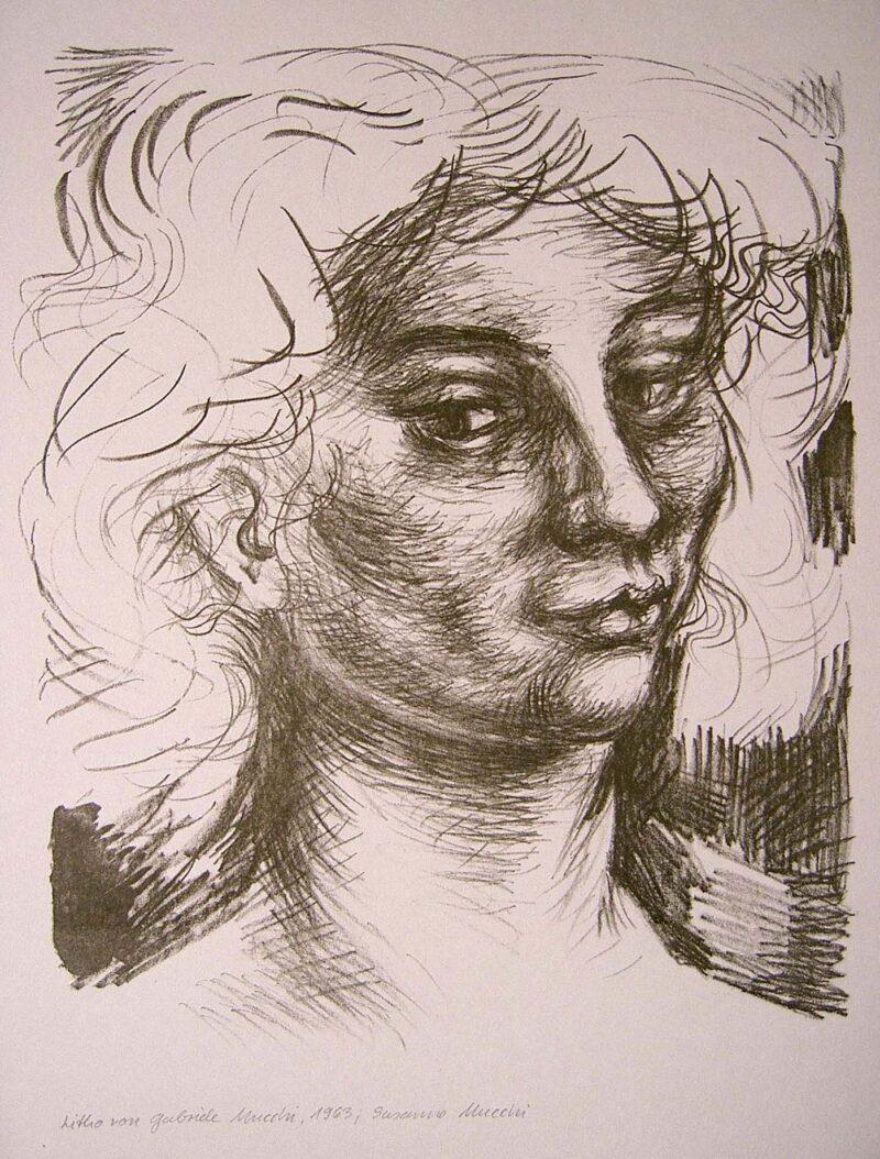 """Abbildung von """"Grande testa di donna Ragazza italiana"""""""