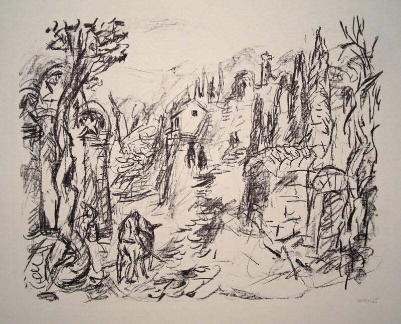 """Abbildung von """"Landschaft bei Signaki im Kaukasus"""""""