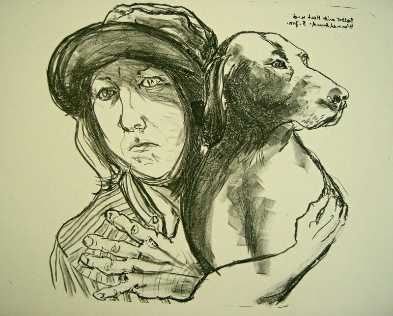"""Abbildung 1: """"Selbst mit Hut und Himmelhund II"""" von Christel Trage"""