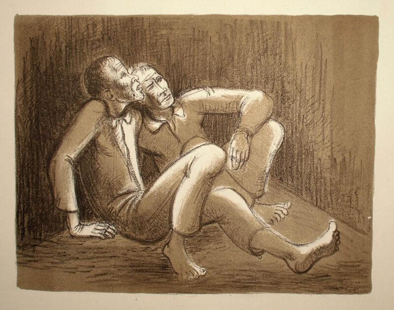 """Abbildung 1: """"Die Gefangenen"""" von Fritz Duda"""