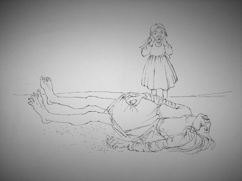 """Abbildung von """"Tote Mutter und weinendes Kind"""""""