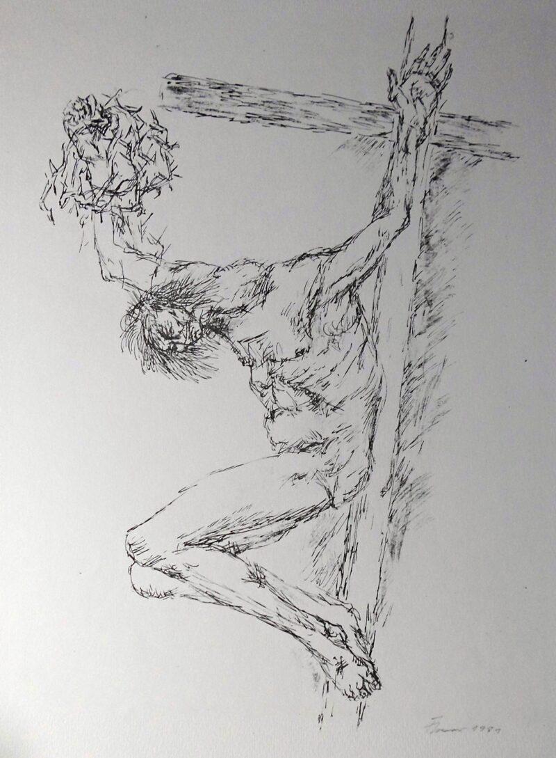 """Abbildung 1: """"Variation zum Gekreuzigten X (WVZ Nr.376)"""" von Fritz Cremer"""