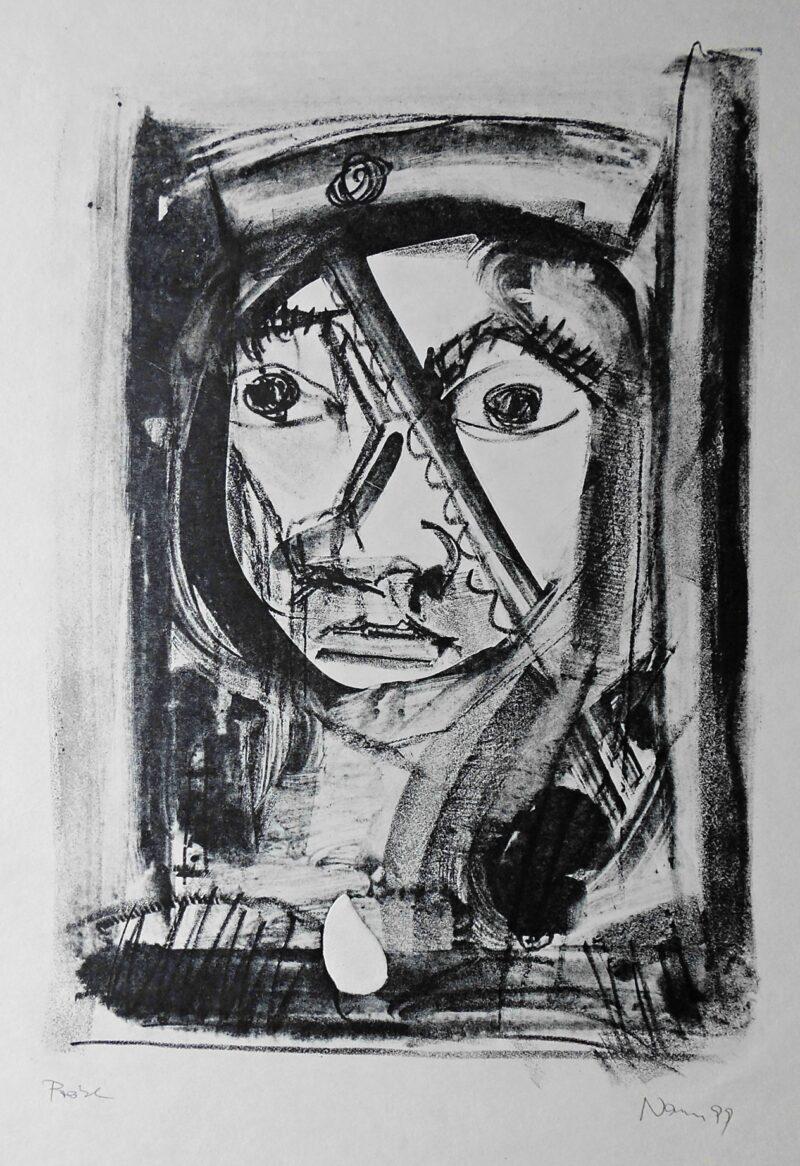 """Abbildung 1: """"Kopf mit Mütze III"""" von Peter Dettmann"""