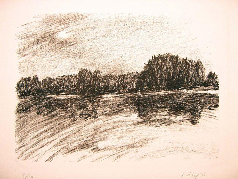 """Abbildung 1: """"Nacht am See I"""" von Volker Scharnefsky"""