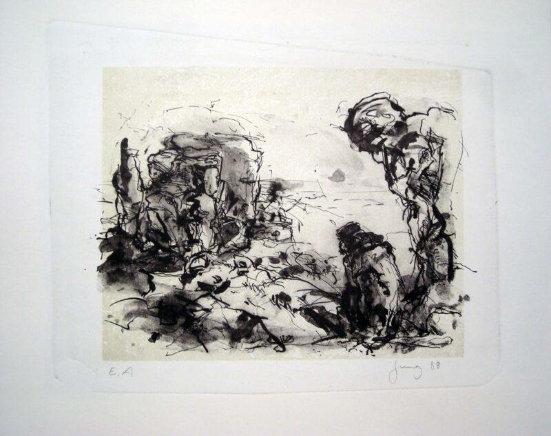 """Abbildung von """"Landschaft mit Liegender"""""""