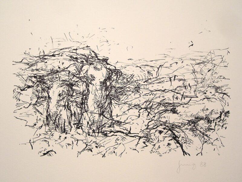 """Abbildung von """"Landschaft mit Torsi"""""""