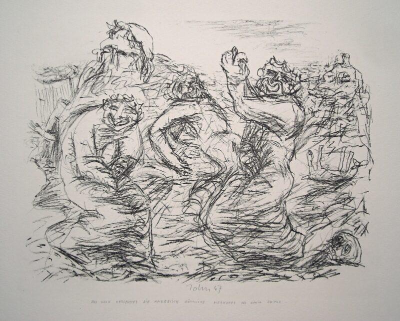 """Abbildung von """"Das Volk verspottet...König Ödipus"""""""