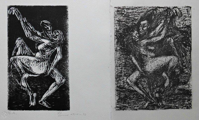 """Abbildung von """"Konvolut Mephisto und die Alte tanzend II"""""""