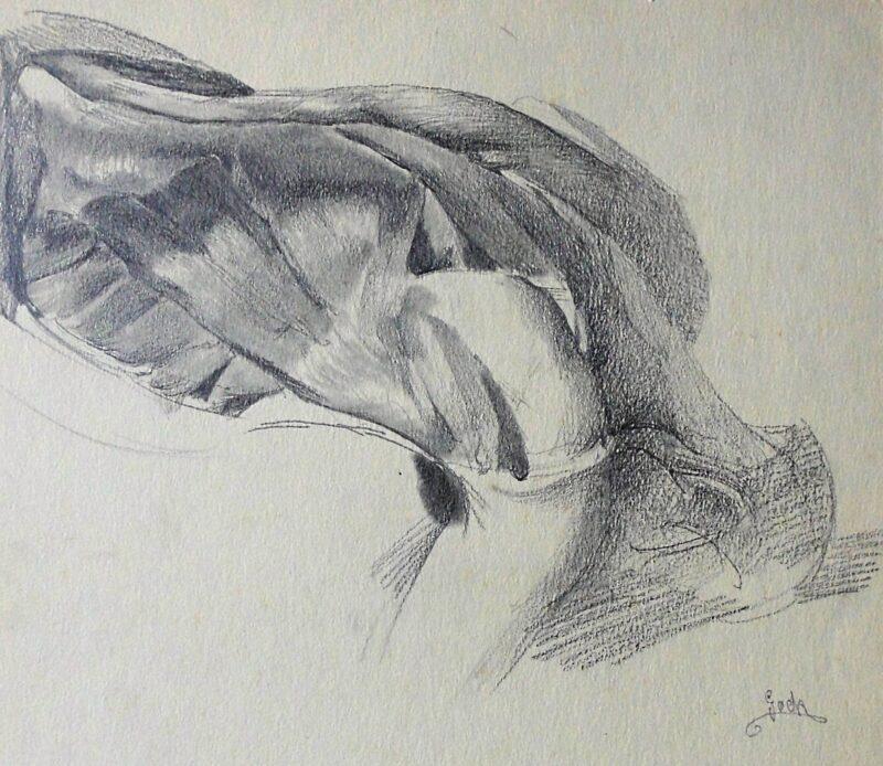 """Abbildung 1: """"Muskelstudie (7230)"""" von Ernst Gock"""